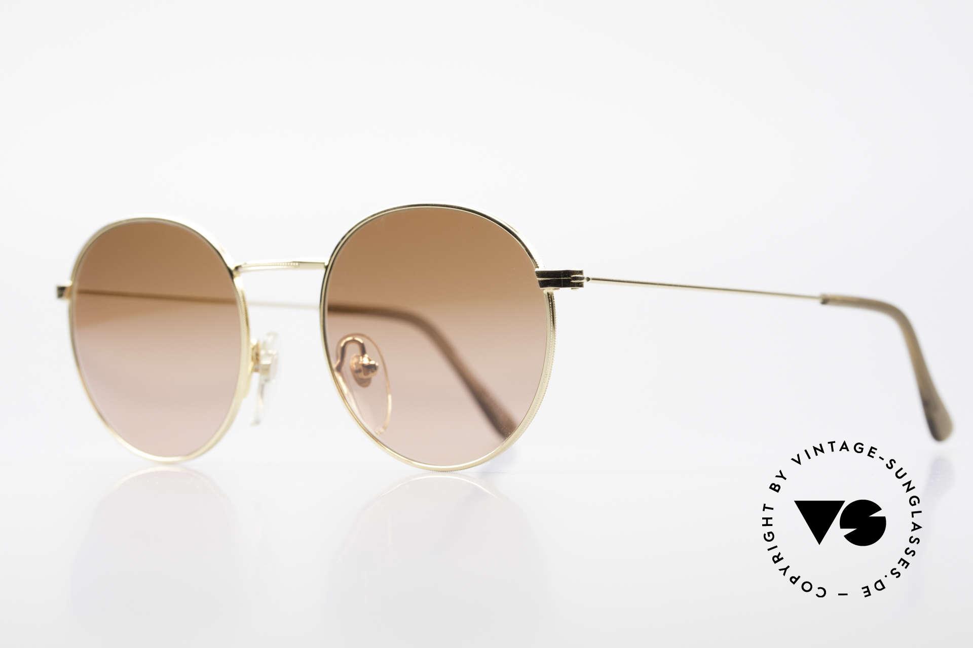 Serengeti Drivers 5346 Runde Autofahrer Brille, leicht verspiegelte Kontrastgläser (zweifacher Verlauf), Passend für Herren