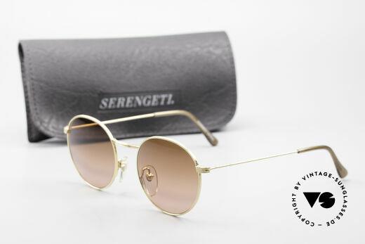 Serengeti Drivers 5346 Runde Autofahrer Brille, ungetragen (wie alle unsere Raritäten) + orig. Etui, Passend für Herren