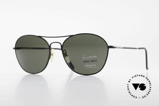 Giorgio Armani 646 Aviator Designer Sonnenbrille Details
