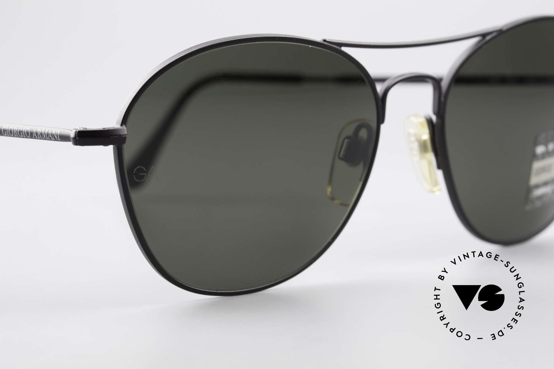 Giorgio Armani 646 Aviator Designer Sonnenbrille, auf 199,-€ reduziert, da Mini-Kratzer rechtes Glas, Passend für Herren
