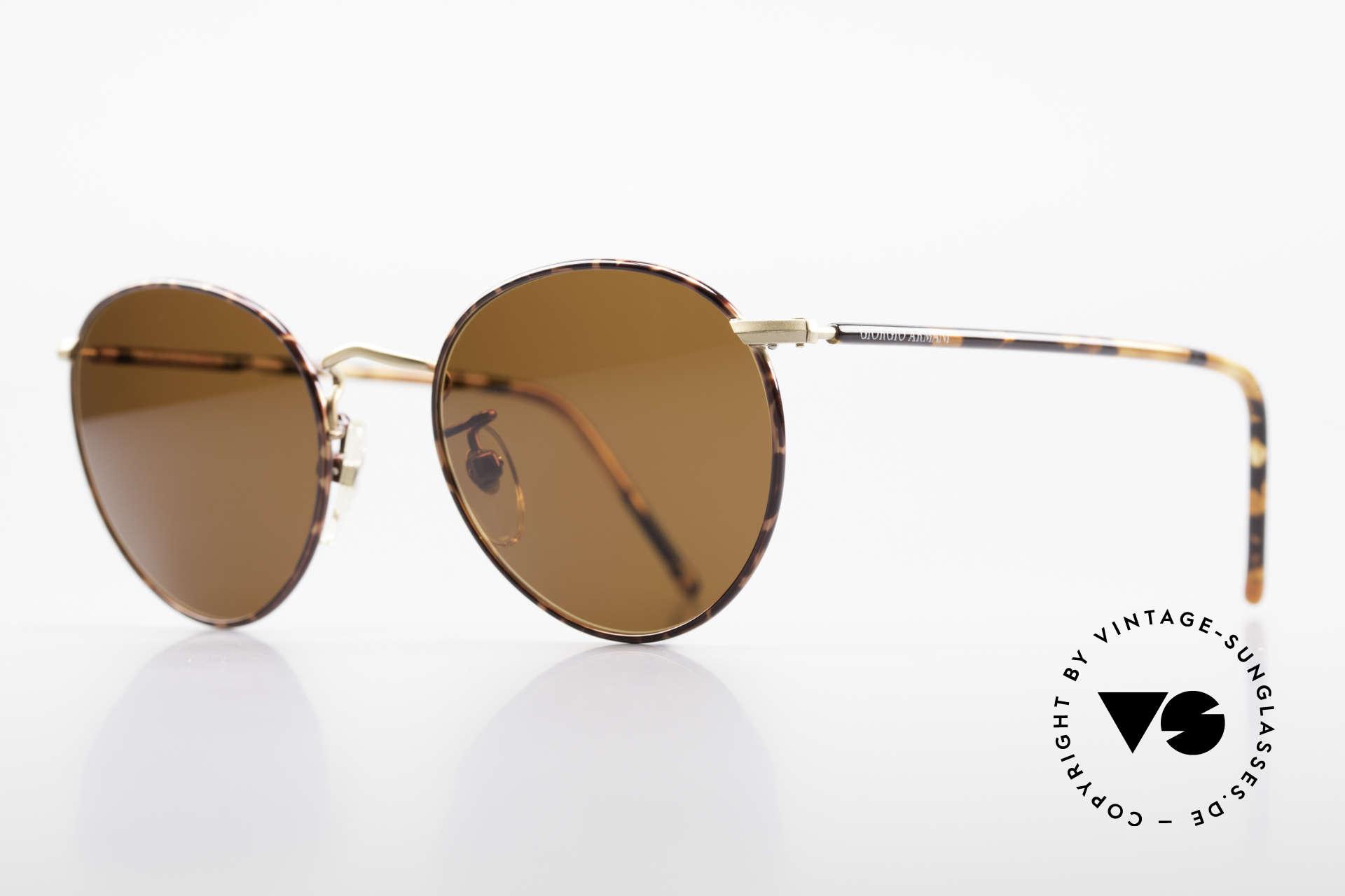 """Giorgio Armani 138 Panto Vintage Sonnenbrille, dezent elegante """"kastanie / schildpatt"""" Kolorierung, Passend für Herren"""