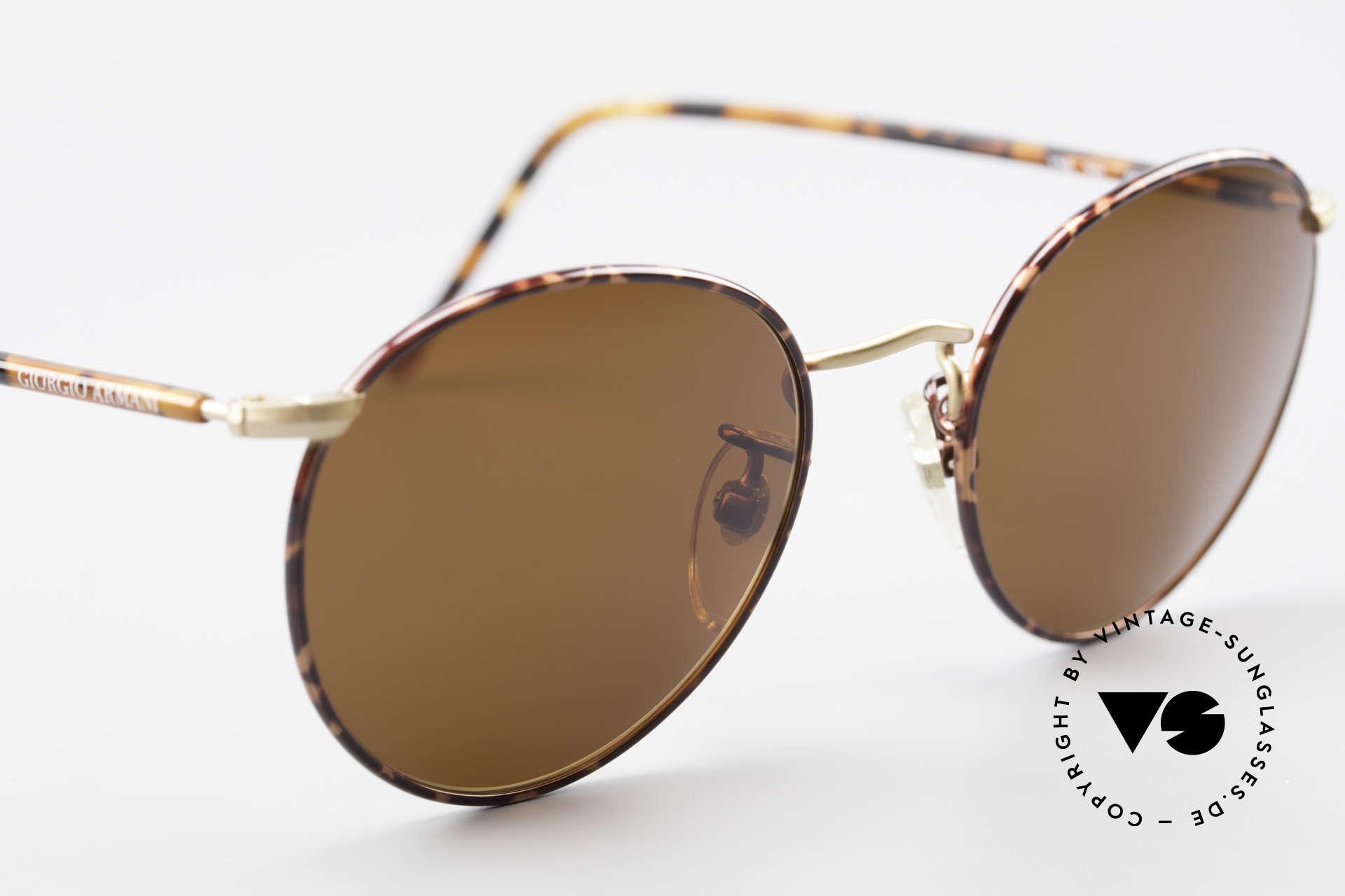 Giorgio Armani 138 Panto Vintage Sonnenbrille, ungetragen (wie all unsere G. Armani Sonnenbrillen), Passend für Herren