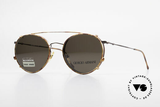 Giorgio Armani 253 Panto Vintage Brille Clip On Details