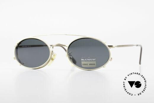 Giorgio Armani 131 80er Fassung Mit Sonnenclip Details