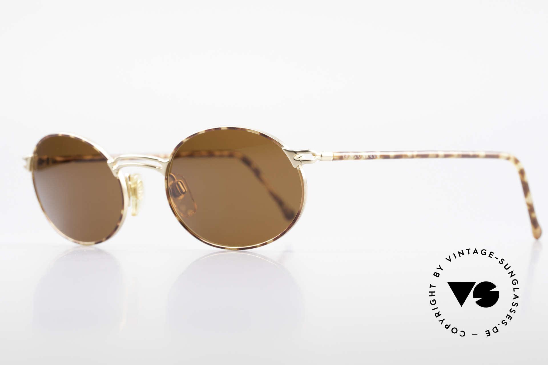 Giorgio Armani 194 Ovale Sonnenbrille No Retro, TOP-Qualität & interessante Kastanien-Lackierung, Passend für Herren und Damen