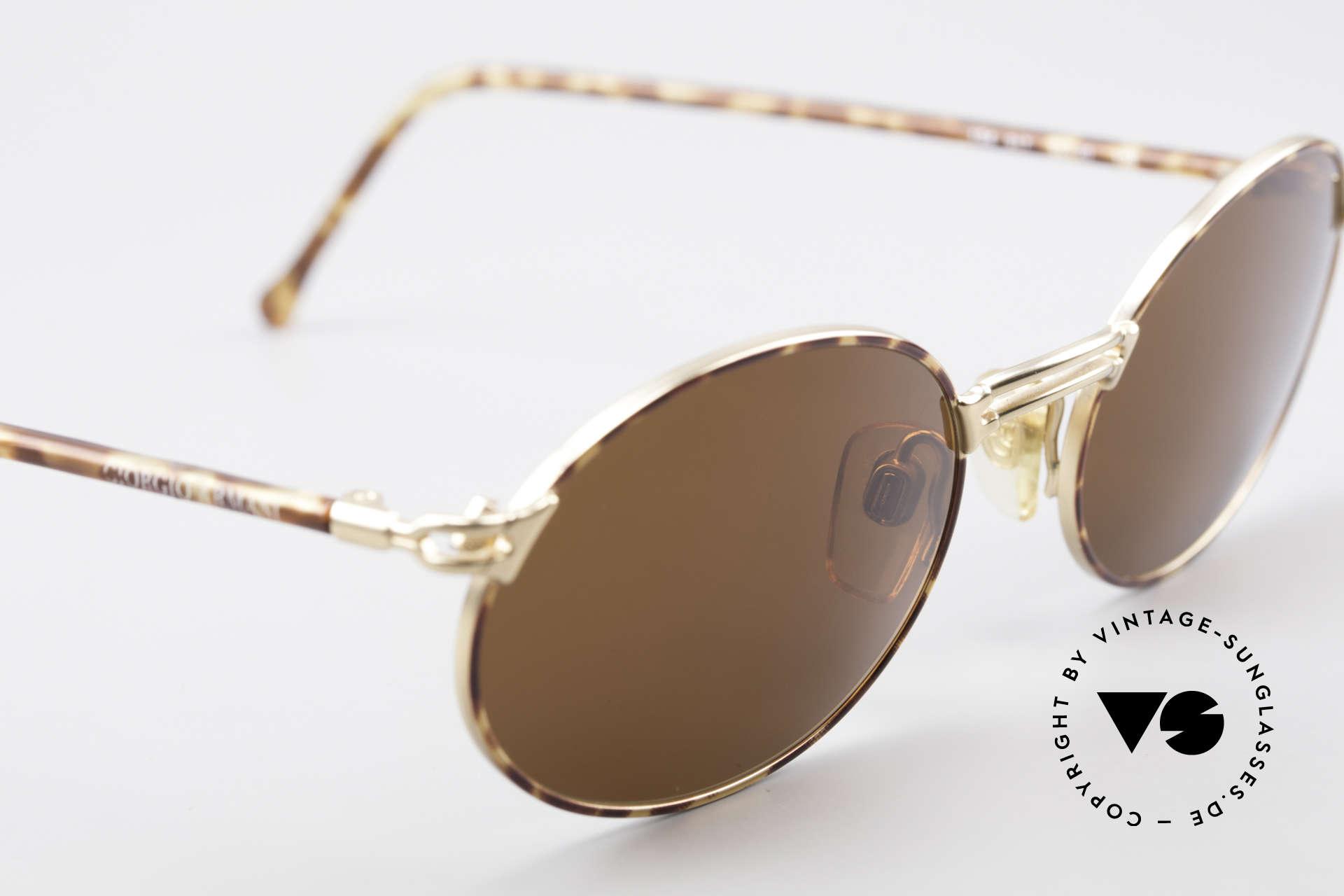 Giorgio Armani 194 Ovale Sonnenbrille No Retro, ungetragen (wie alle unsere vintage Sonnenbrillen), Passend für Herren und Damen