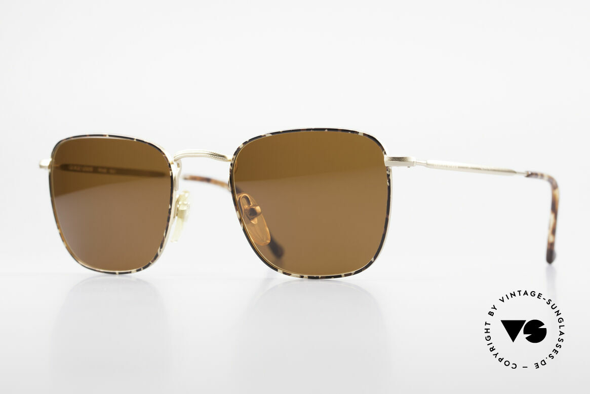 Giorgio Armani 137 Eckige Panto Vintage Brille, zeitlose 80er/90er J. Giorgio Armani DesignerBrille, Passend für Herren