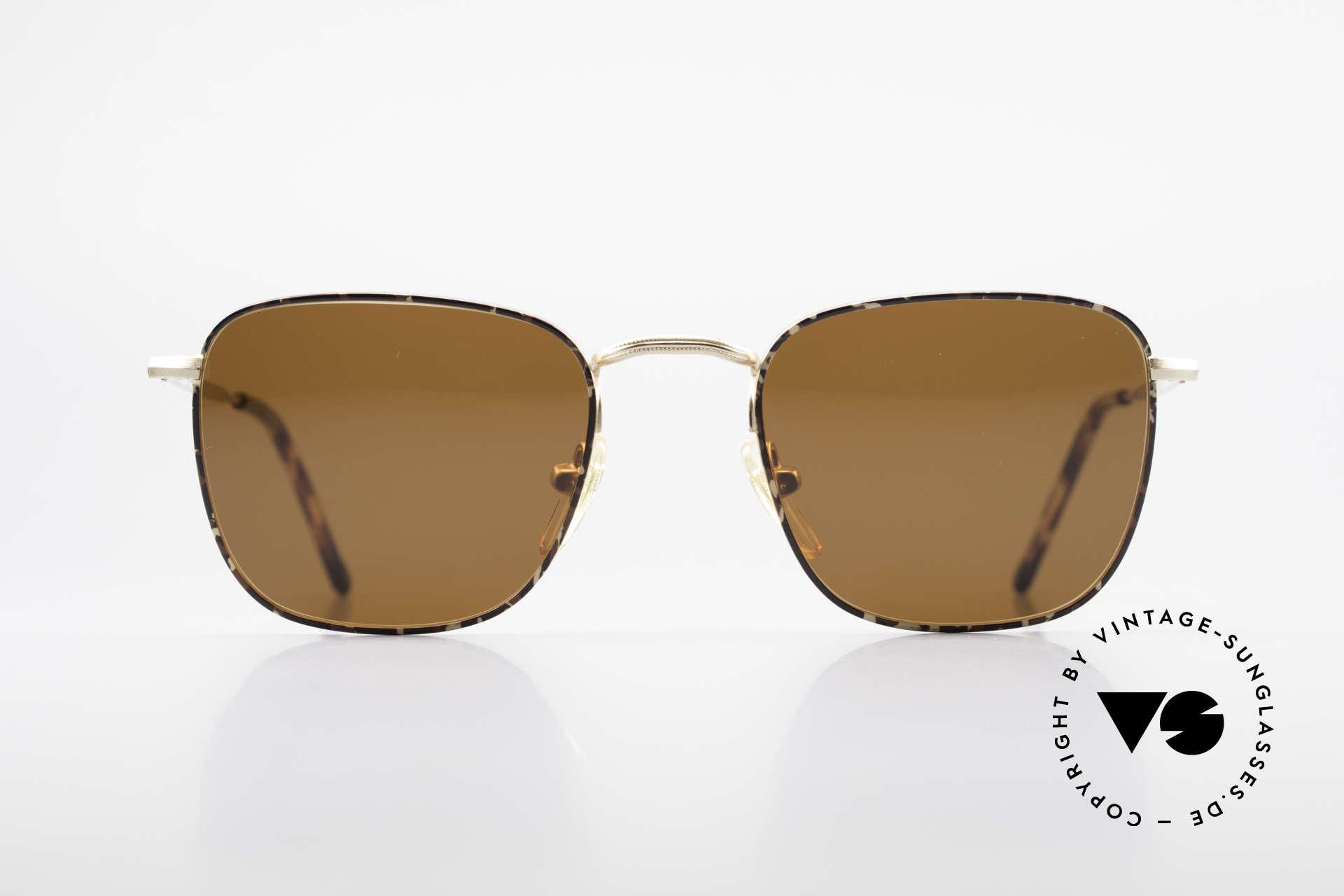 Giorgio Armani 137 Eckige Panto Vintage Brille, eckige Panto-Form; ein absoluter Brillen-Klassiker!, Passend für Herren