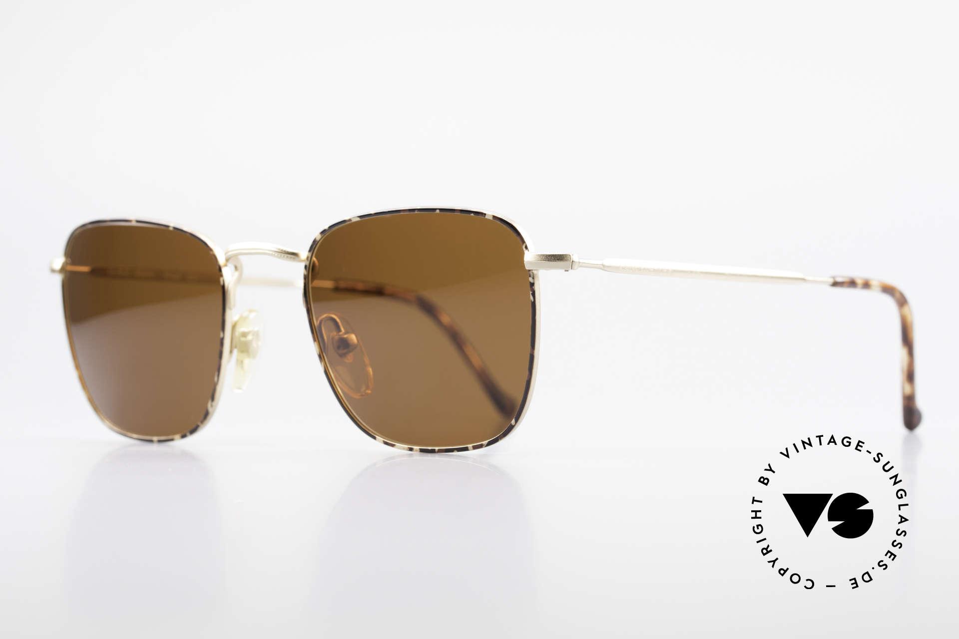 """Giorgio Armani 137 Eckige Panto Vintage Brille, dezent elegante """"kastanie / schildpatt"""" Kolorierung, Passend für Herren"""