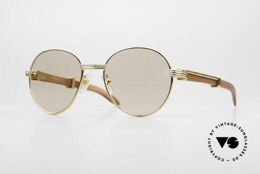 Cartier Bagatelle Bubinga Edelholz Sonnenbrille Details