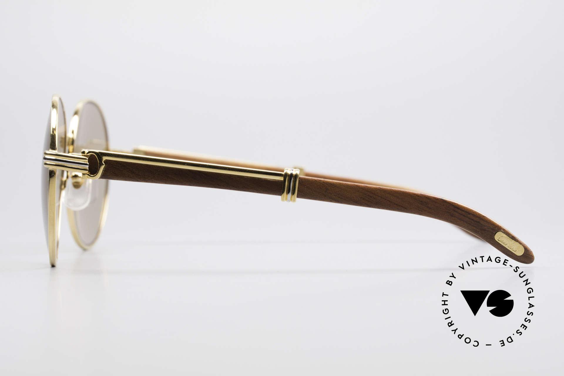 Cartier Bagatelle Bubinga Edelholz Sonnenbrille, ungetragenes Einzelstück inkl. Cartier Verpackung, Passend für Herren und Damen
