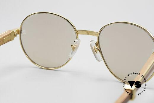 Cartier Bagatelle Bubinga Edelholz Sonnenbrille, KEINE Retrobrille, sondern ein Original von 1990!, Passend für Herren und Damen