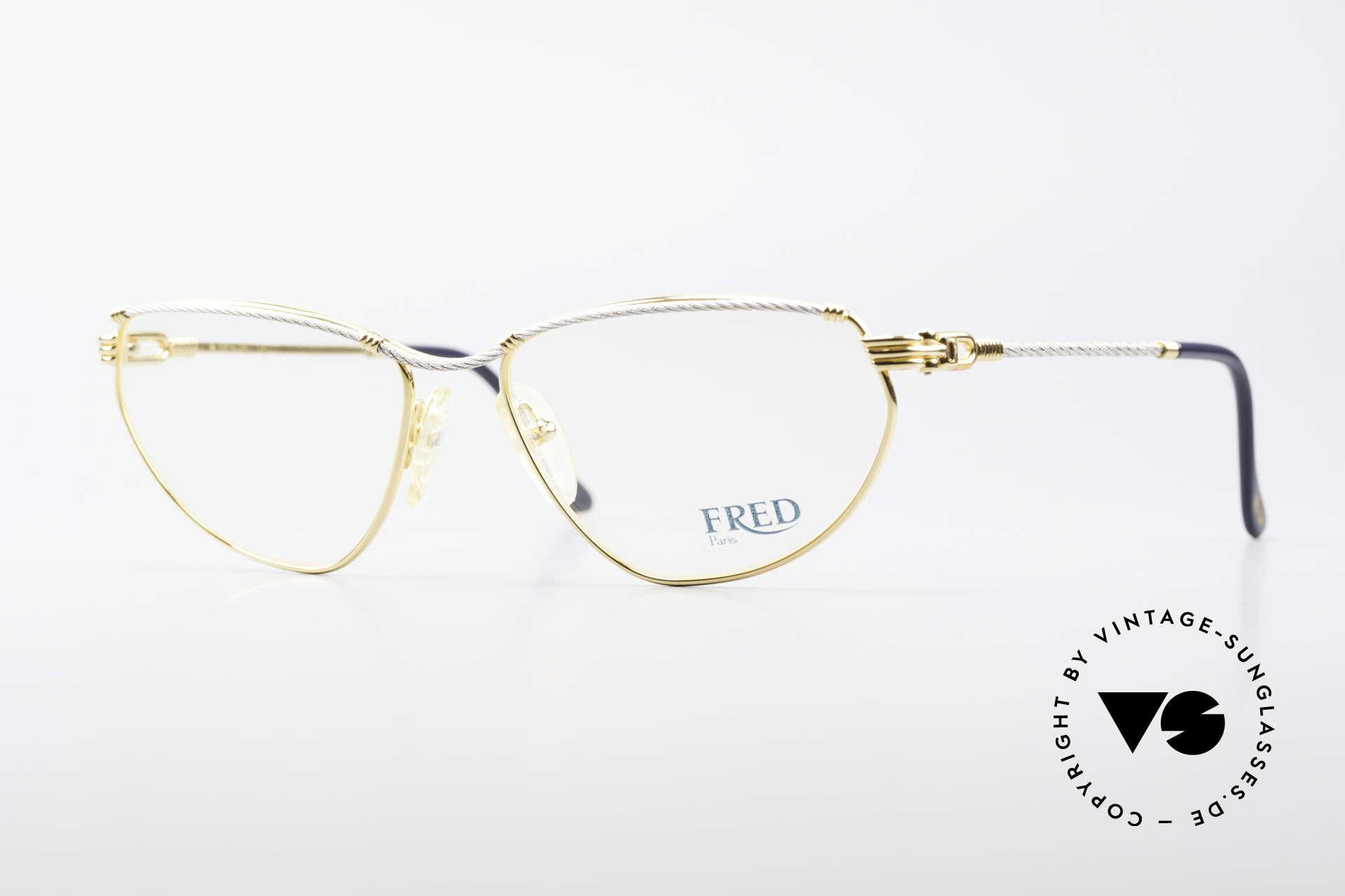 Fred Alize Luxus M Brillenfassung Damen, Luxus-Brillenfassung von FRED, Paris aus den 80ern, Passend für Damen