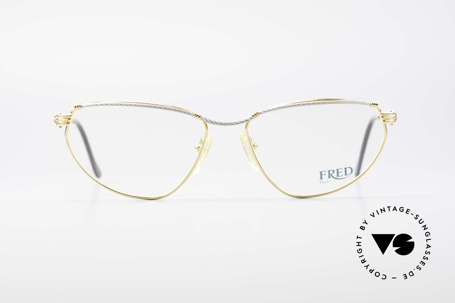 Fred Alize Luxus M Brillenfassung Damen, marines Design (charakteristisch Fred); Top-Qualität, Passend für Damen