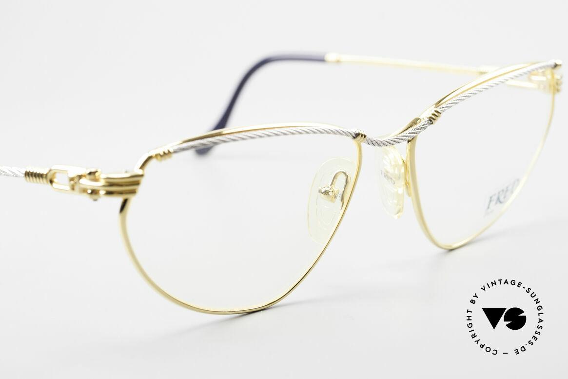 Fred Alize Luxus M Brillenfassung Damen, bicolore Ausführung im Cateye-Design; M Größe 57/16, Passend für Damen