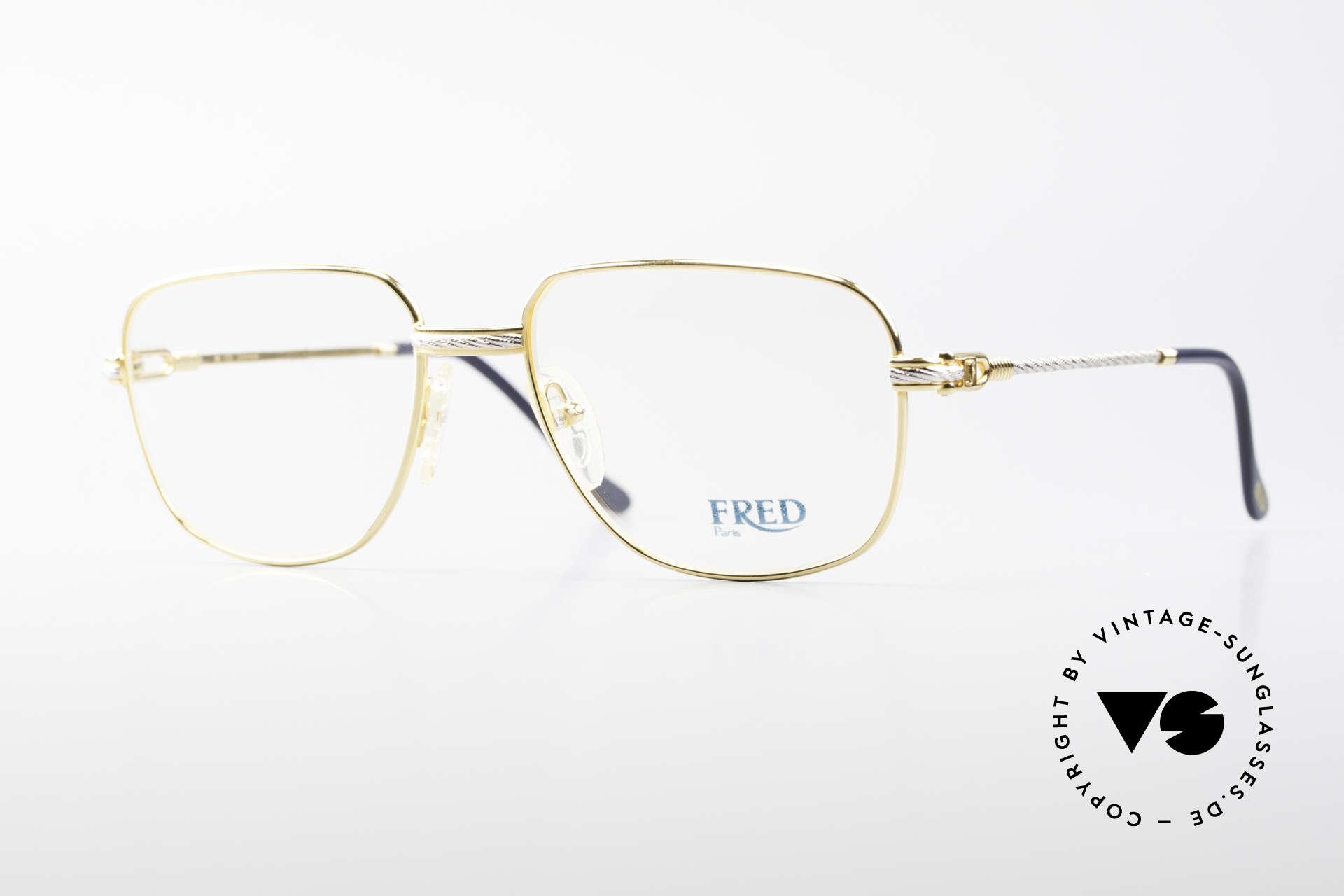 Fred Zephir Luxus Segler Brille Herren, einmalige Designerbrille von Fred, Paris aus den 80ern, Passend für Herren