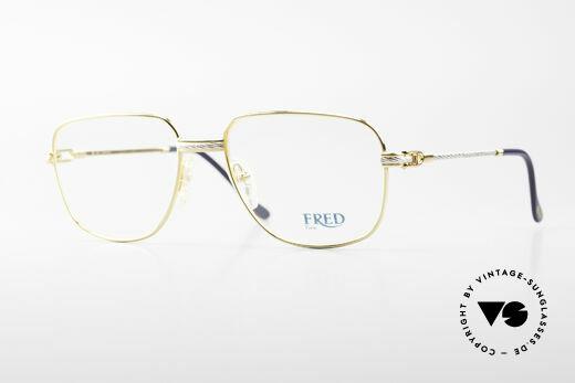 Fred Zephir Luxus Segler Brille Herren Details