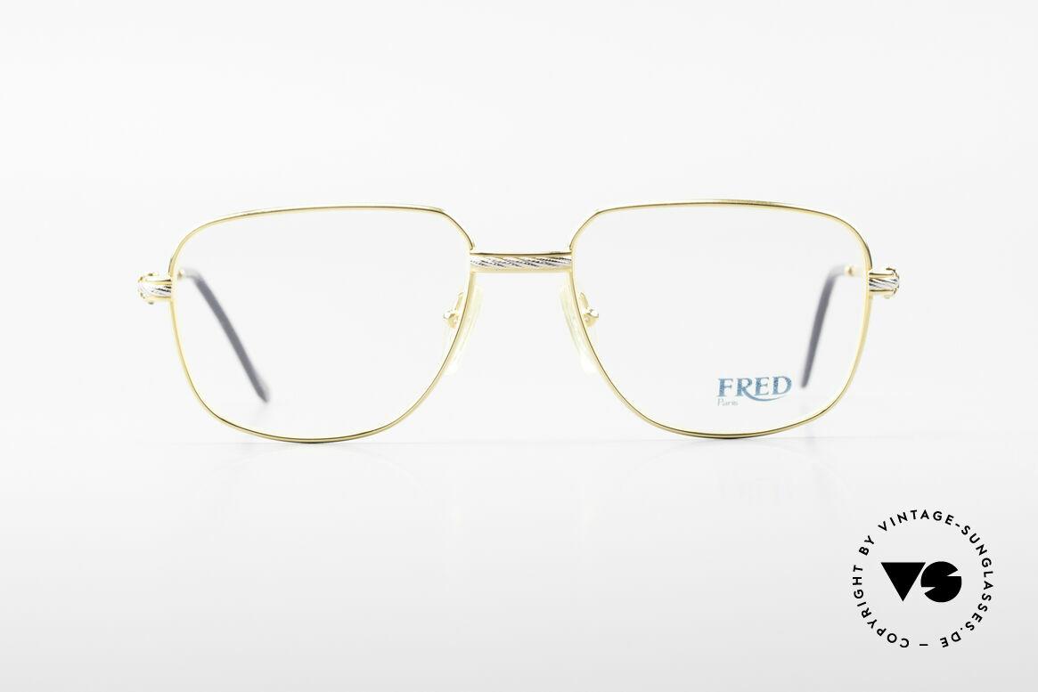 Fred Zephir Luxus Segler Brille Herren, marines Design (charakteristisch Fred) in Top-Qualität, Passend für Herren