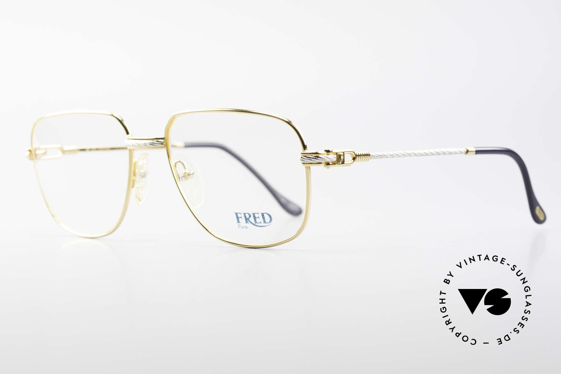 Fred Zephir Luxus Segler Brille Herren, der Name sagt alles: 'ZEPHIR' = griechischer Windgott, Passend für Herren