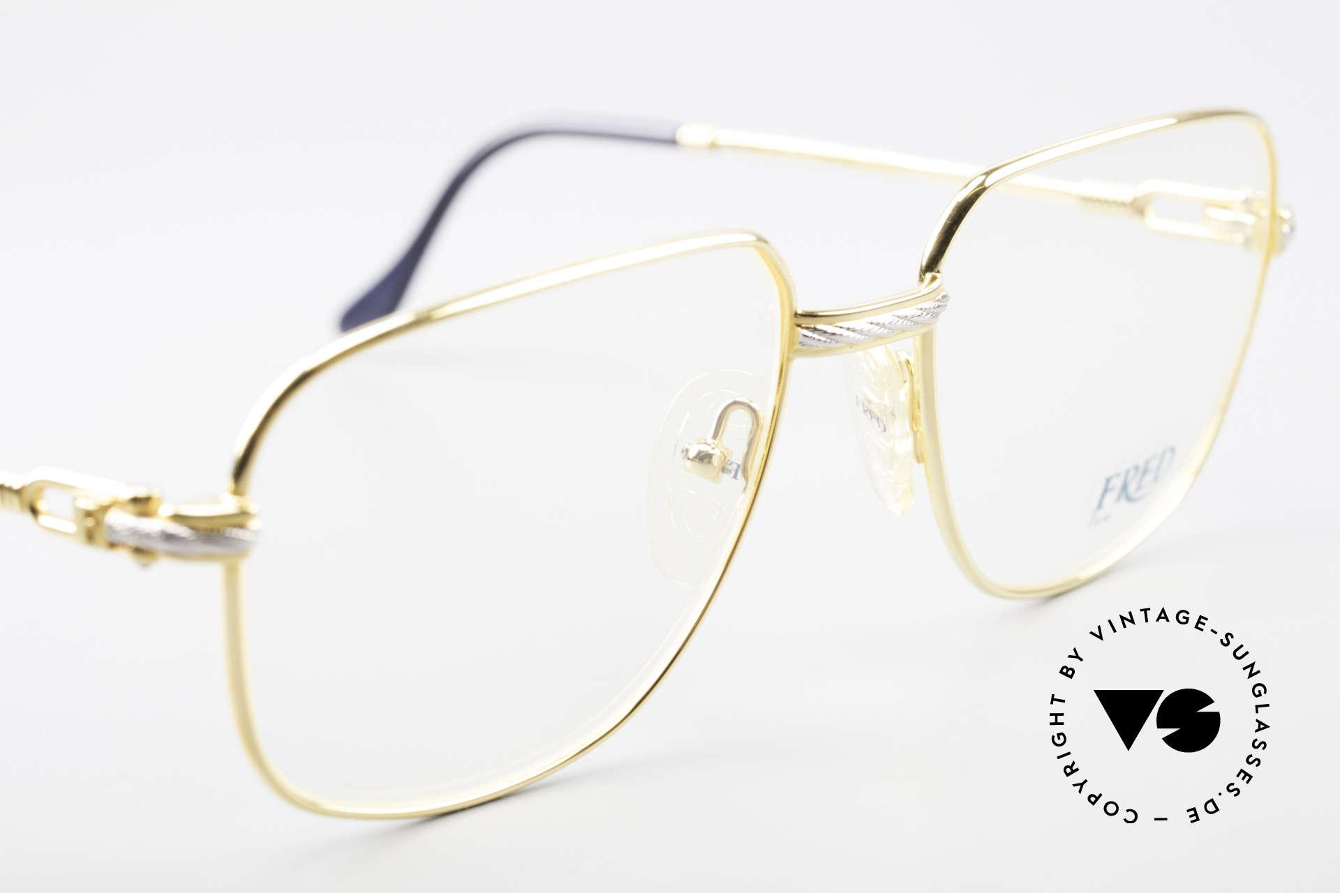 Fred Zephir Luxus Segler Brille Herren, ungetragenes Exemplar (kommt mit Etui von Montblanc), Passend für Herren