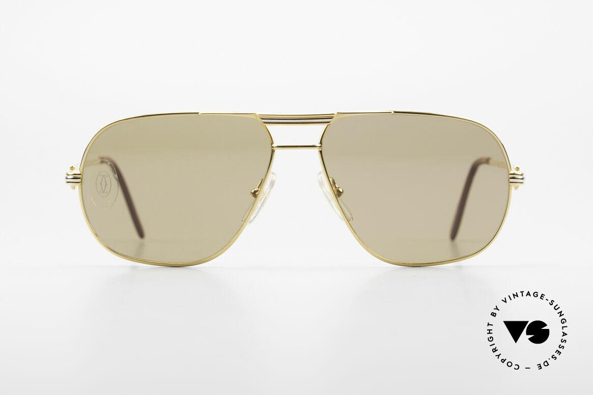 Cartier Tank - M Luxus Gläser mit Hauchzeichen, Tank: Modell aus der alten 'Rimmed Serie' von CARTIER, Passend für Herren