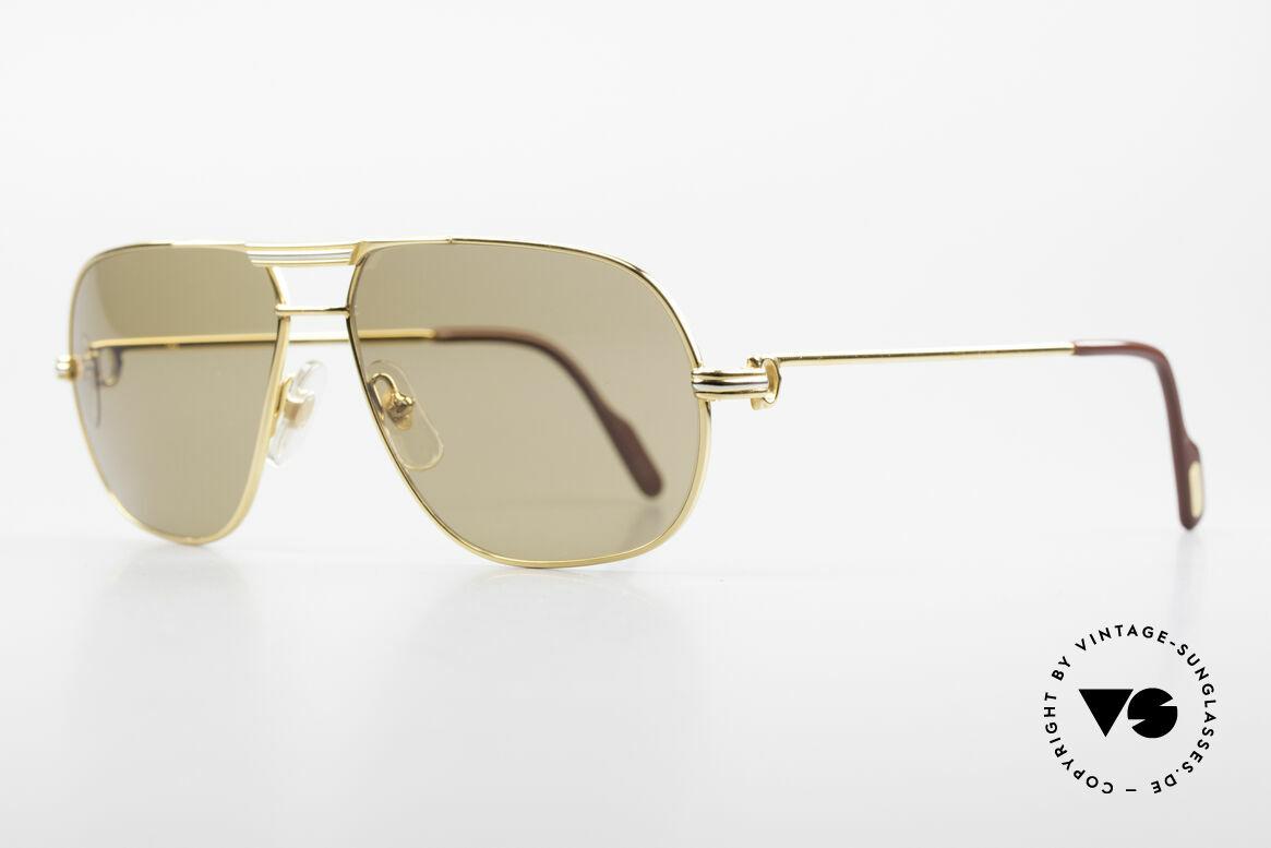 Cartier Tank - M Luxus Gläser mit Hauchzeichen, 22kt vergoldete Fassung (wie alle alten Cartier Brillen), Passend für Herren