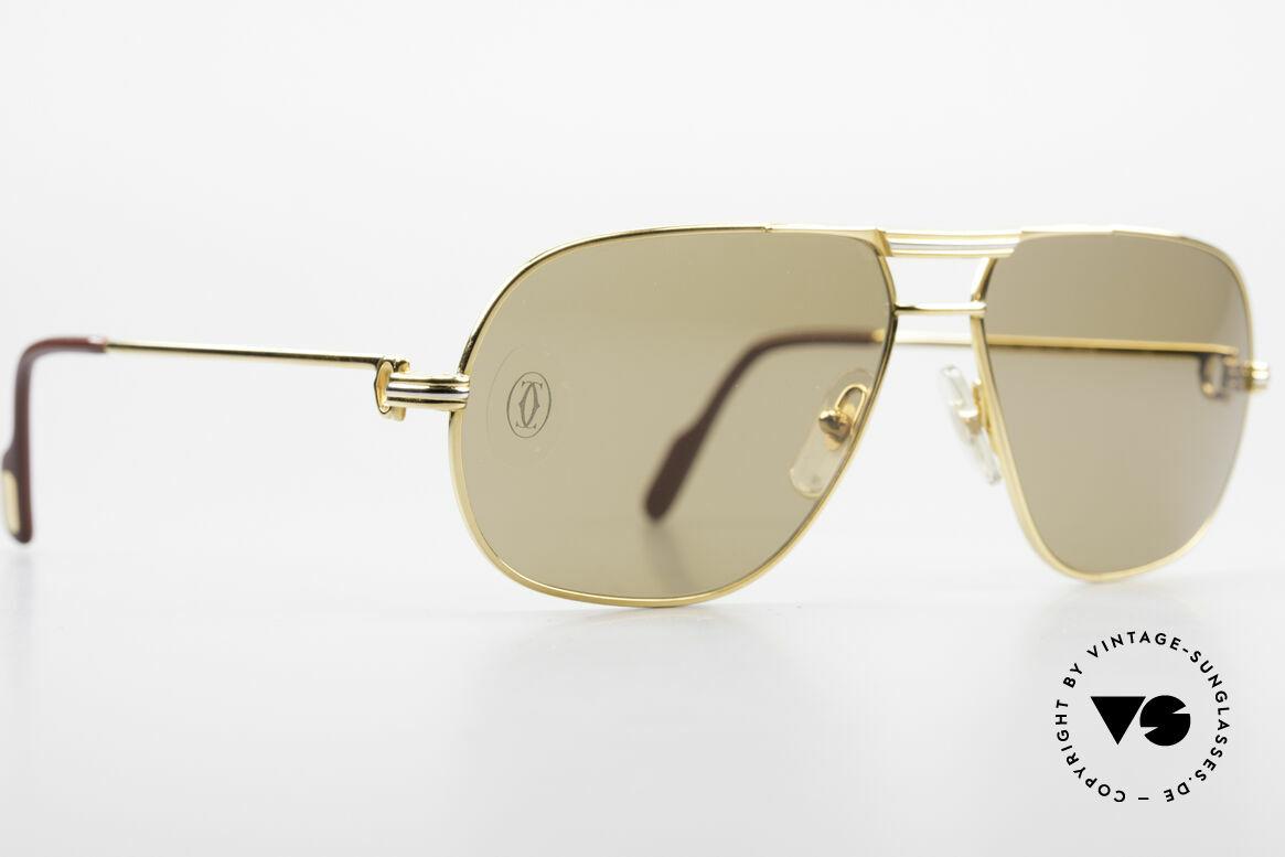 Cartier Tank - M Luxus Gläser mit Hauchzeichen, original Cartier Sonnengläser mit dem HAUCHZEICHEN, Passend für Herren