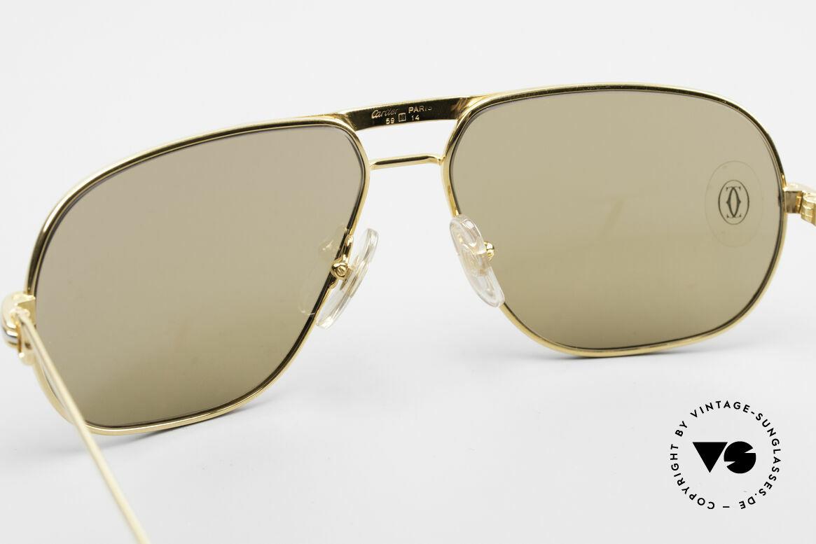 Cartier Tank - M Luxus Gläser mit Hauchzeichen, Gläser anhauchen und das CARTIER-Logo wird sichtbar!, Passend für Herren