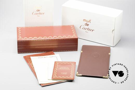 Cartier Tank - M Luxus Gläser mit Hauchzeichen, ungetragen mit OVP (selten in diesem Zustand zu finden), Passend für Herren