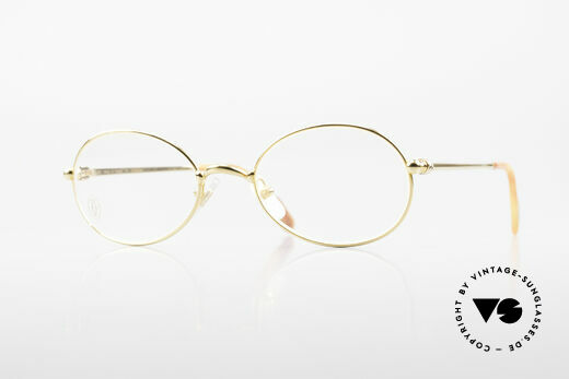 Cartier Saturne - S Kleine Ovale 90er Luxusbrille Details