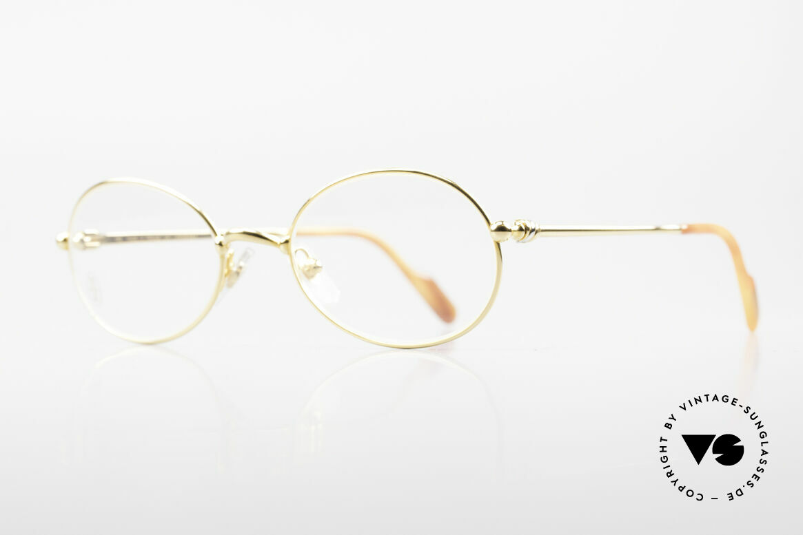 Cartier Saturne Kleine Ovale 90er Luxusbrille