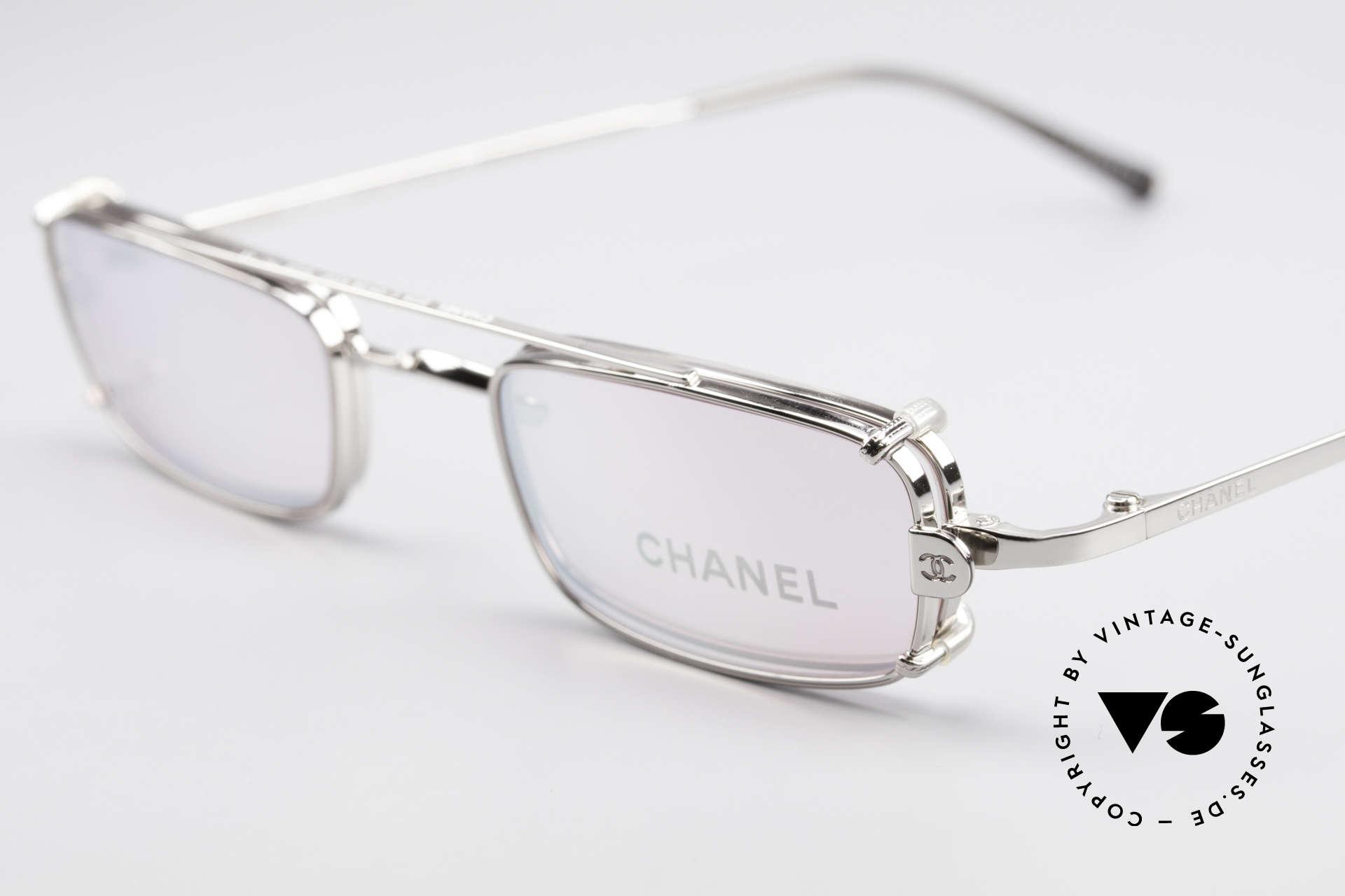 Chanel 2038 Pinke Luxus Brille Sonnenclip, Sonnengläser sind leicht verspiegelt PINK (100% UV), Passend für Damen