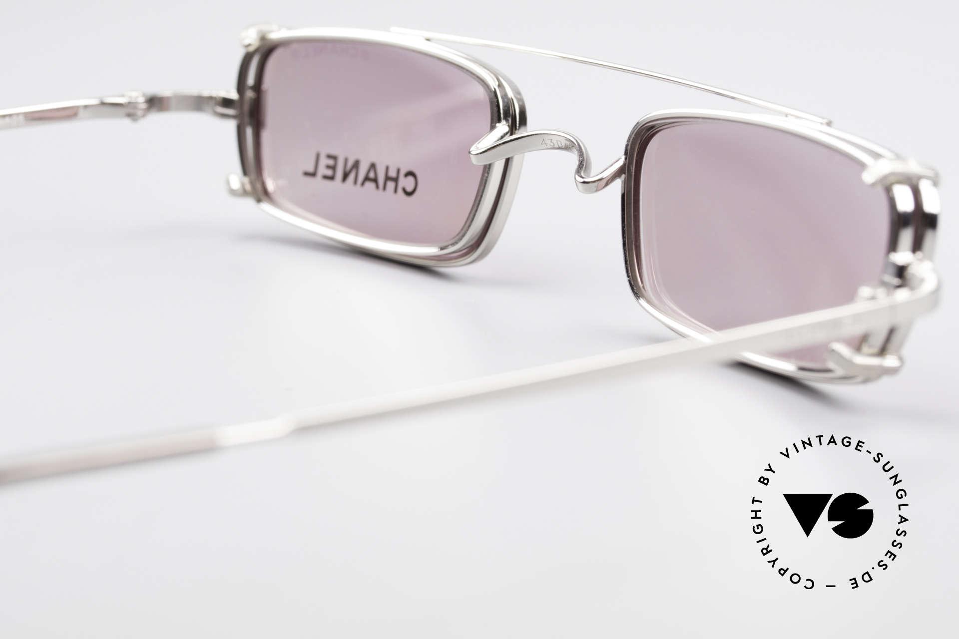 Chanel 2038 Pinke Luxus Brille Sonnenclip, KEINE Retrobrille, sondern ein 20 Jahre altes Original, Passend für Damen
