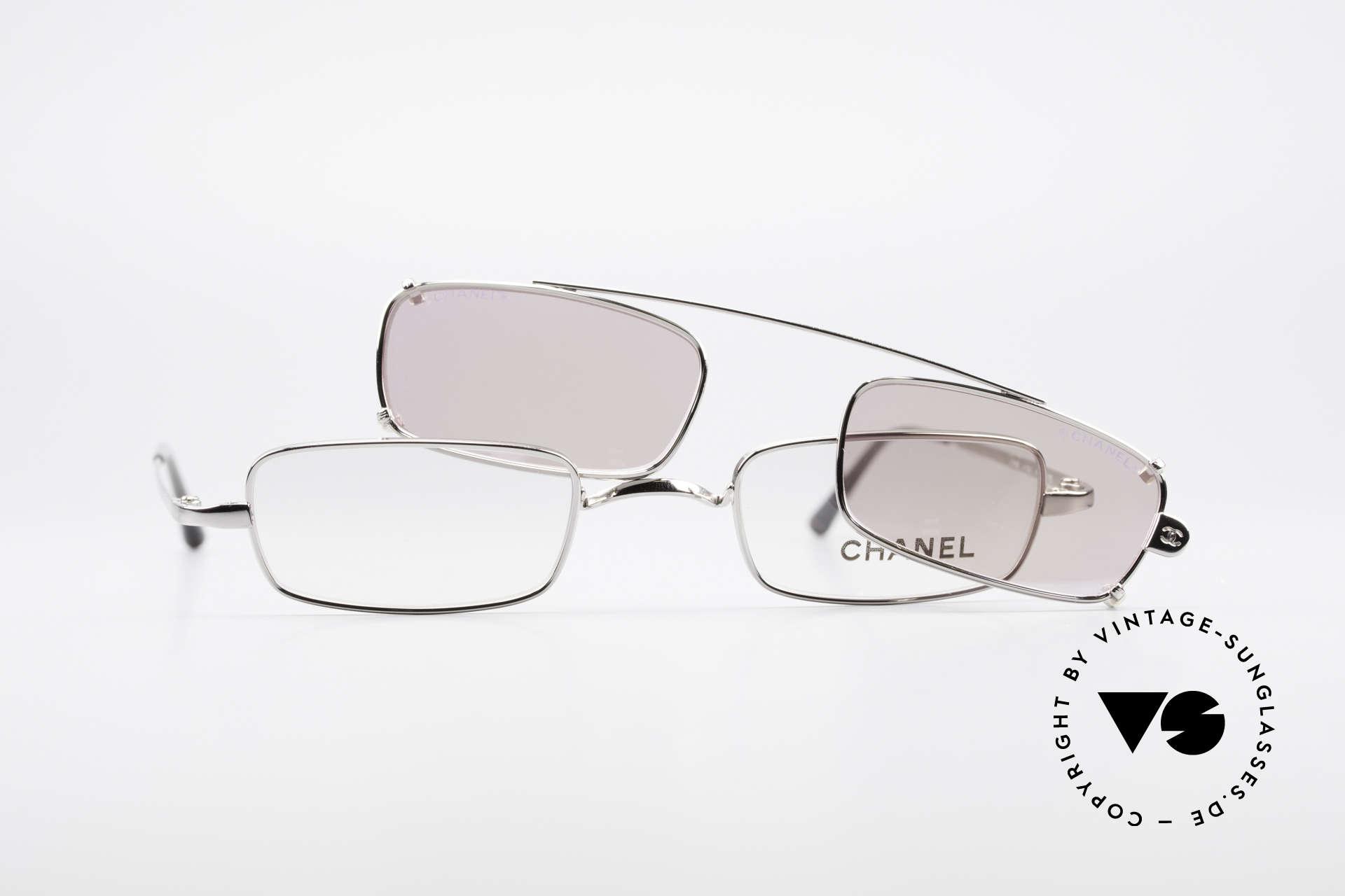 Chanel 2038 Pinke Luxus Brille Sonnenclip, Größe: small, Passend für Damen