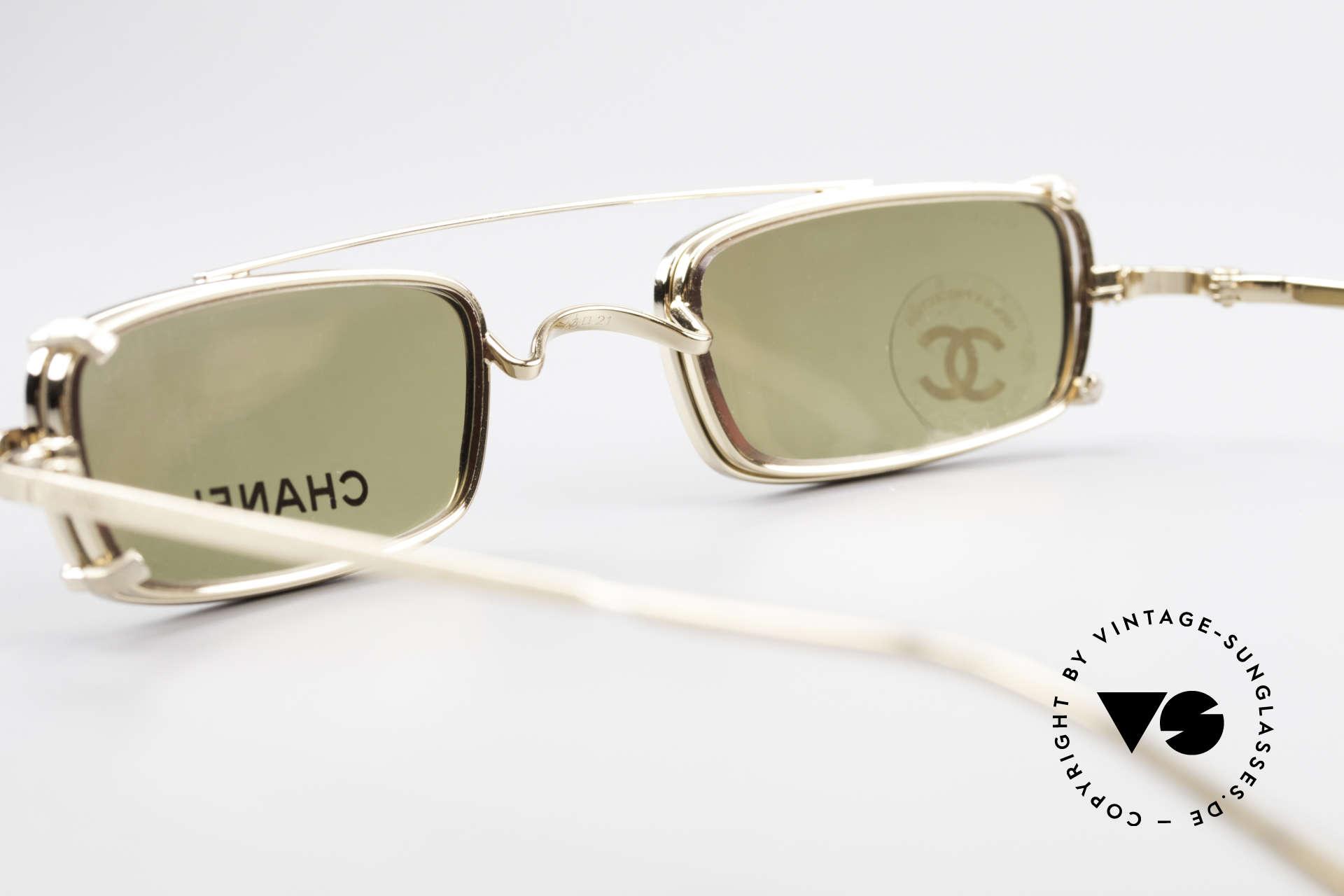 Chanel 2038 Unisex Luxus Brille Sonnenclip, KEINE Retrobrille, sondern ein 20 Jahre altes Original, Passend für Herren und Damen