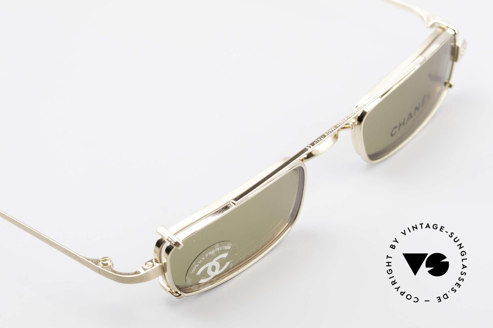 Chanel 2038 Unisex Luxus Brille Sonnenclip, ungetragenes Designerstück mit original Chanel Etui, Passend für Herren und Damen