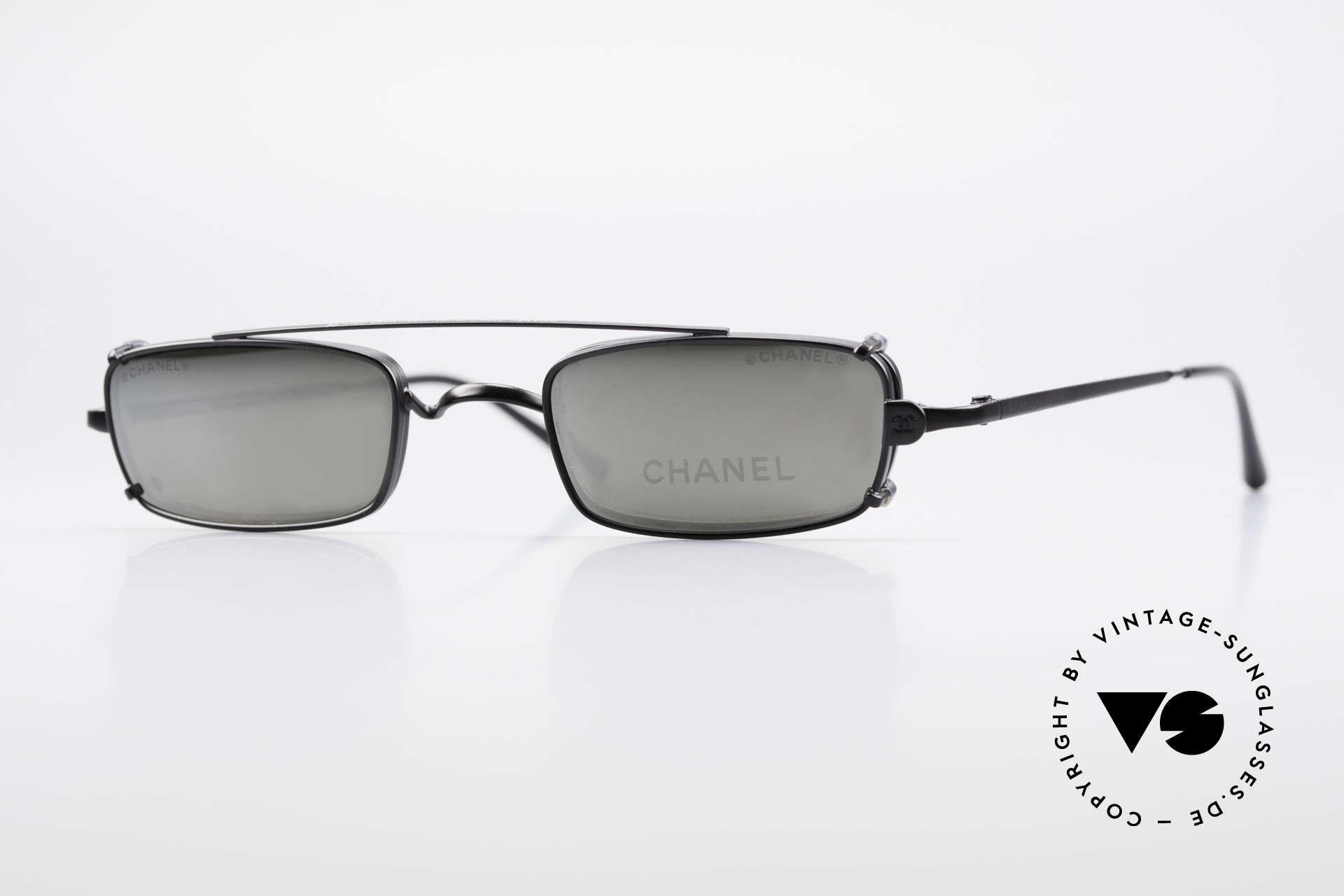 Chanel 2038 Luxus Brille Eckig Sonnenclip, CHANEL Brille 2038, Größe 43-21, 135 in Farbe c101, Passend für Herren und Damen