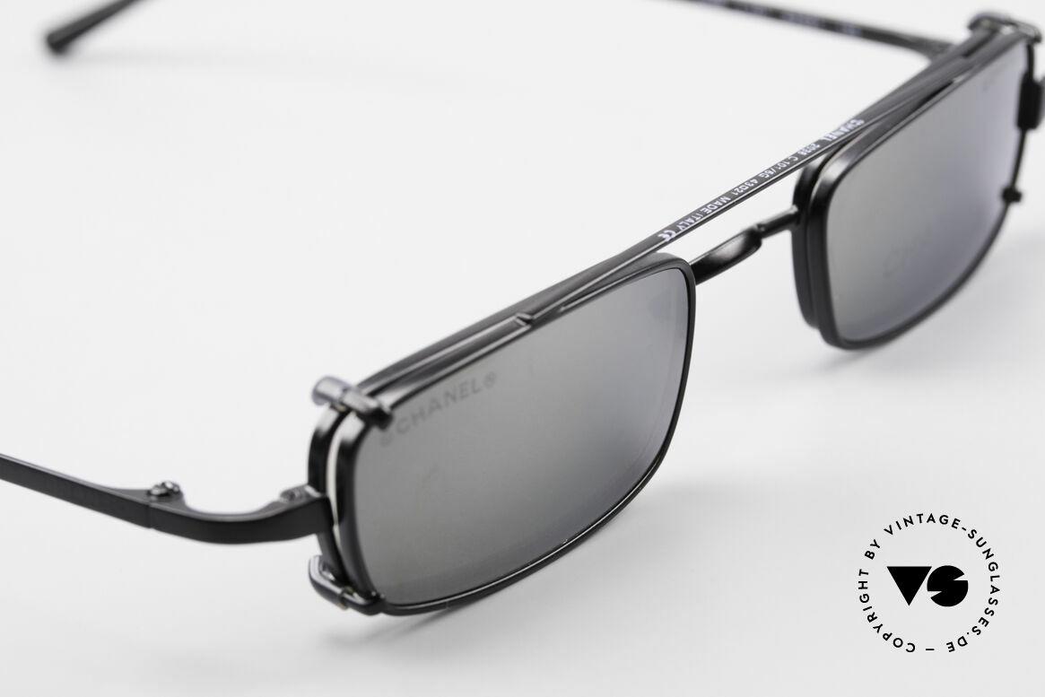 Chanel 2038 Luxus Brille Eckig Sonnenclip, ungetragenes Designerstück mit original Chanel Etui, Passend für Herren und Damen