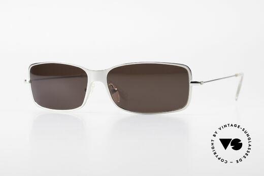 Helmut Lang SHL53B Puristische Titan Sonnenbrille Details