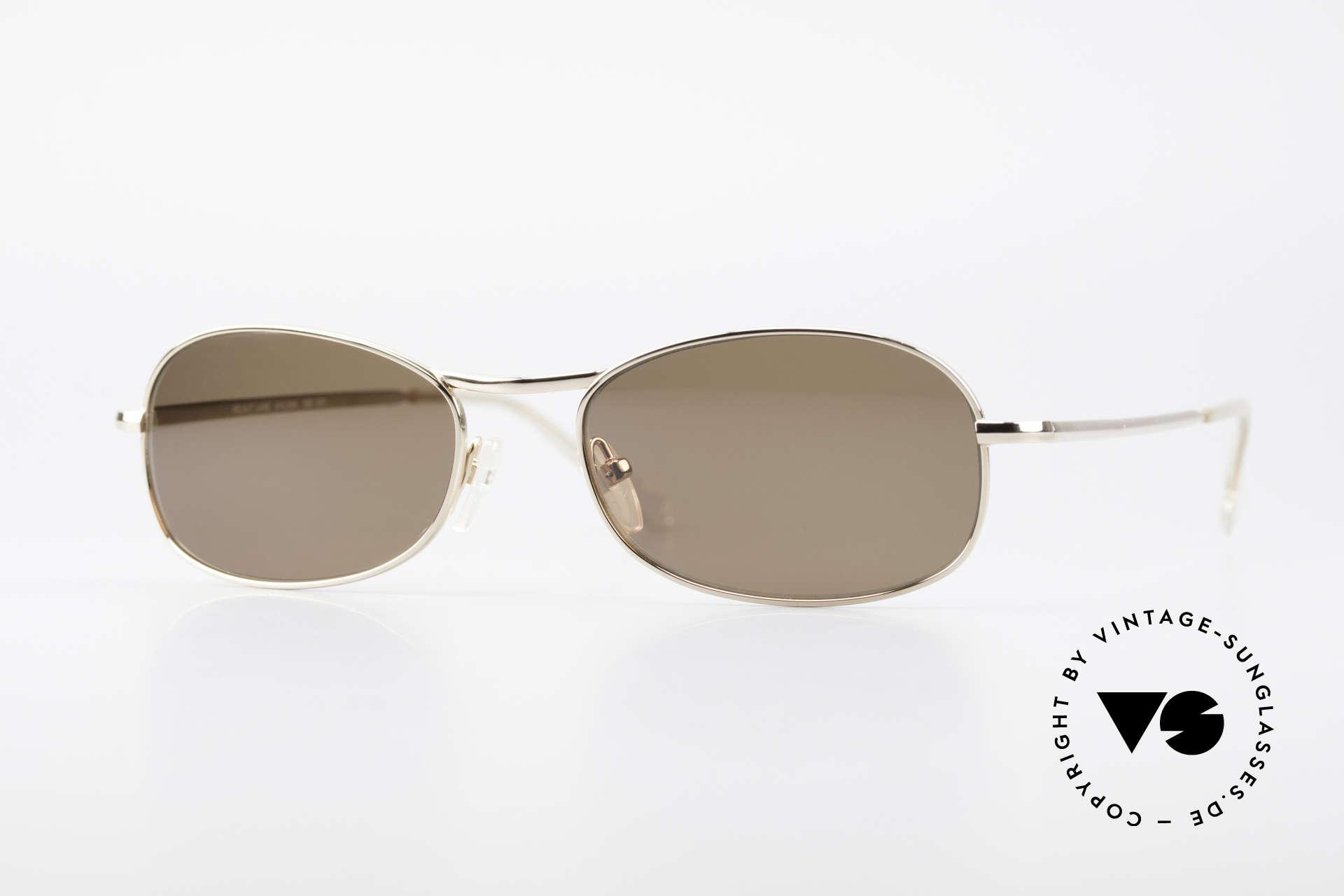 Helmut Lang SHL53A Minimalistische Titan Brille, HELMUT LANG vintage Designer Titanium Sonnenbrille, Passend für Herren