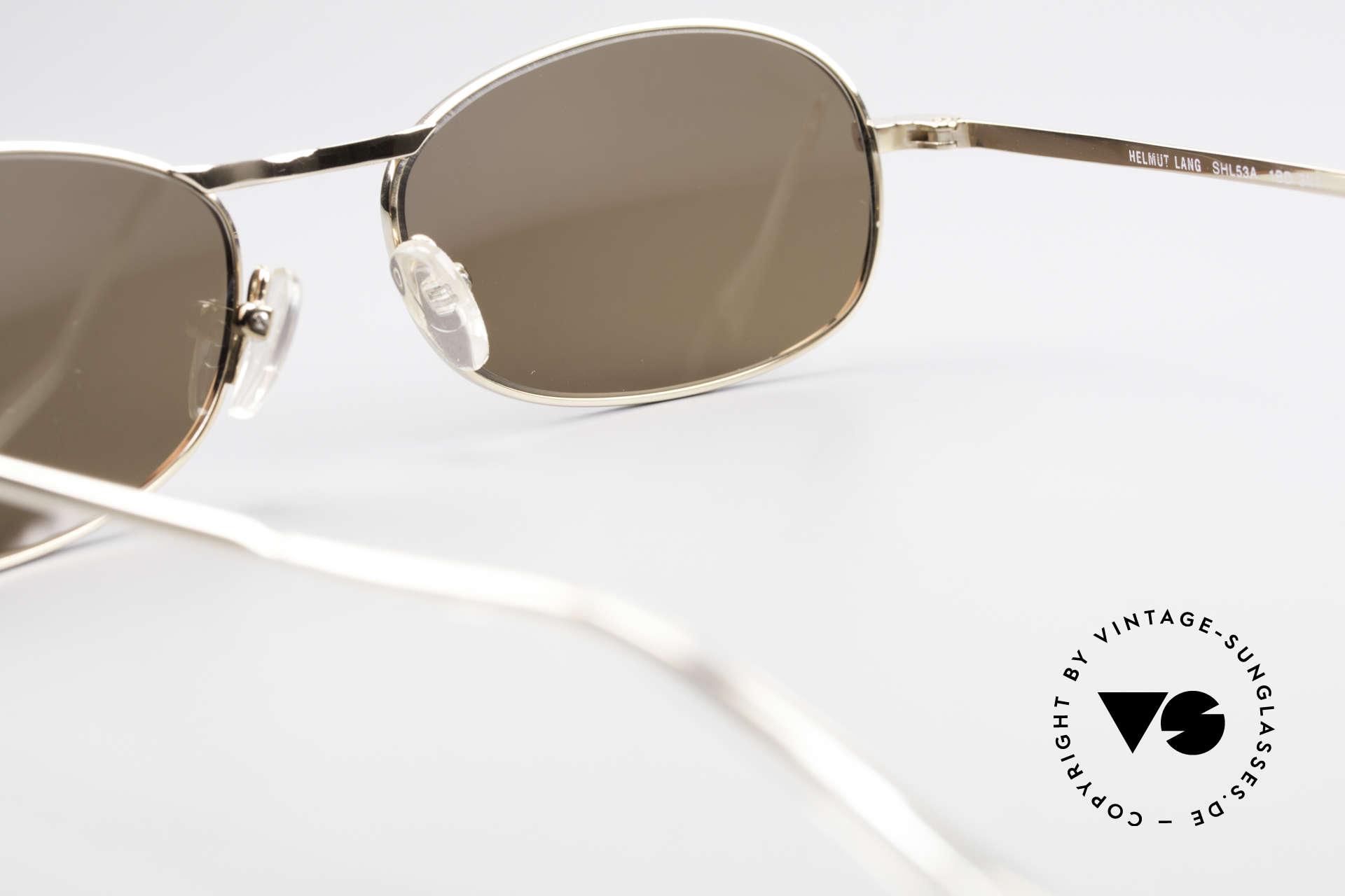 Helmut Lang SHL53A Minimalistische Titan Brille, KEINE Retro-Sonnenbrille, ein 20 Jahre altes ORIGINAL!, Passend für Herren