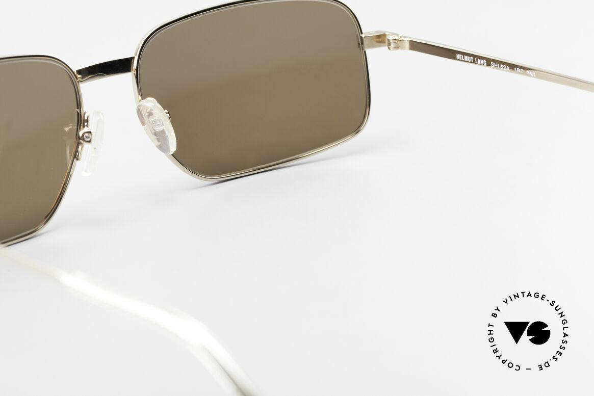Helmut Lang SHL62A Titan Sonnenbrille Avantgarde