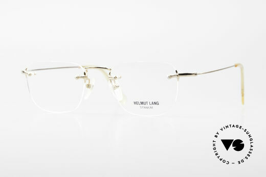 Helmut Lang VHL54A Randlose Titanium Fassung Details