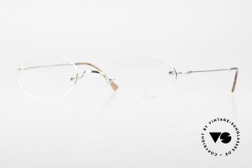Lunor Rimless Randlose Vintage Brille 90er Details