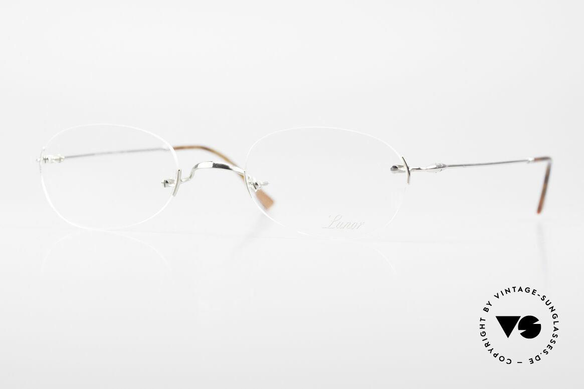 """Lunor Rimless Randlose Vintage Brille 90er, LUNOR = französisch für """"Lunette d'Or"""" (Goldbrille), Passend für Herren und Damen"""