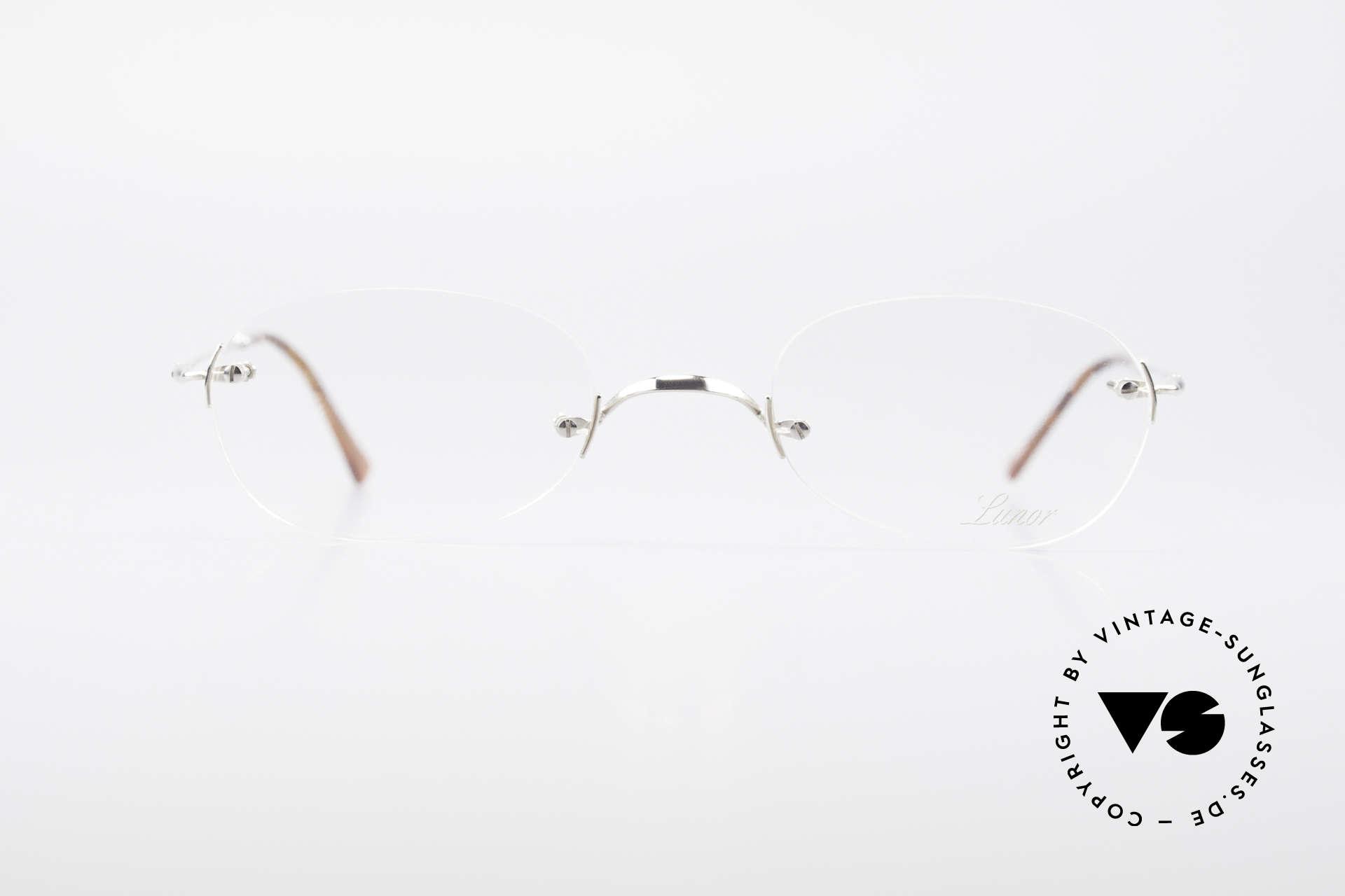 Lunor Rimless Randlose Vintage Brille 90er, deutsches Traditionsunternehmen; made in Germany, Passend für Herren und Damen