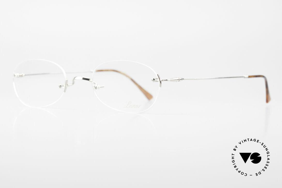 Lunor Rimless Randlose Vintage Brille 90er, Brillendesign in Anlehnung an frühere Jahrhunderte, Passend für Herren und Damen