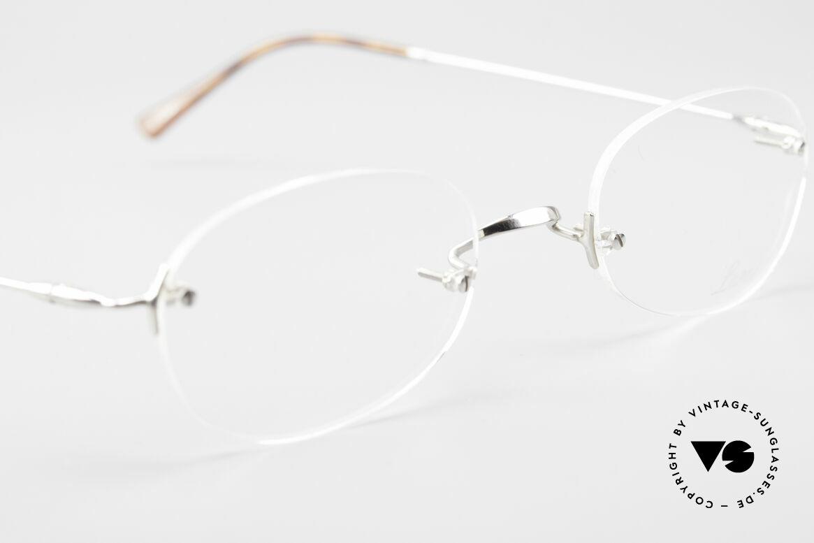 Lunor Rimless Randlose Vintage Brille 90er, altes, ungetragenes LUNOR Einzelstück von ca. 1999, Passend für Herren und Damen