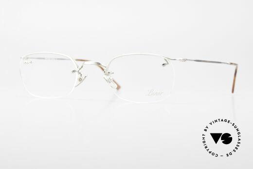 Lunor Classic Halb Rahmenlose Vintage Brille Details