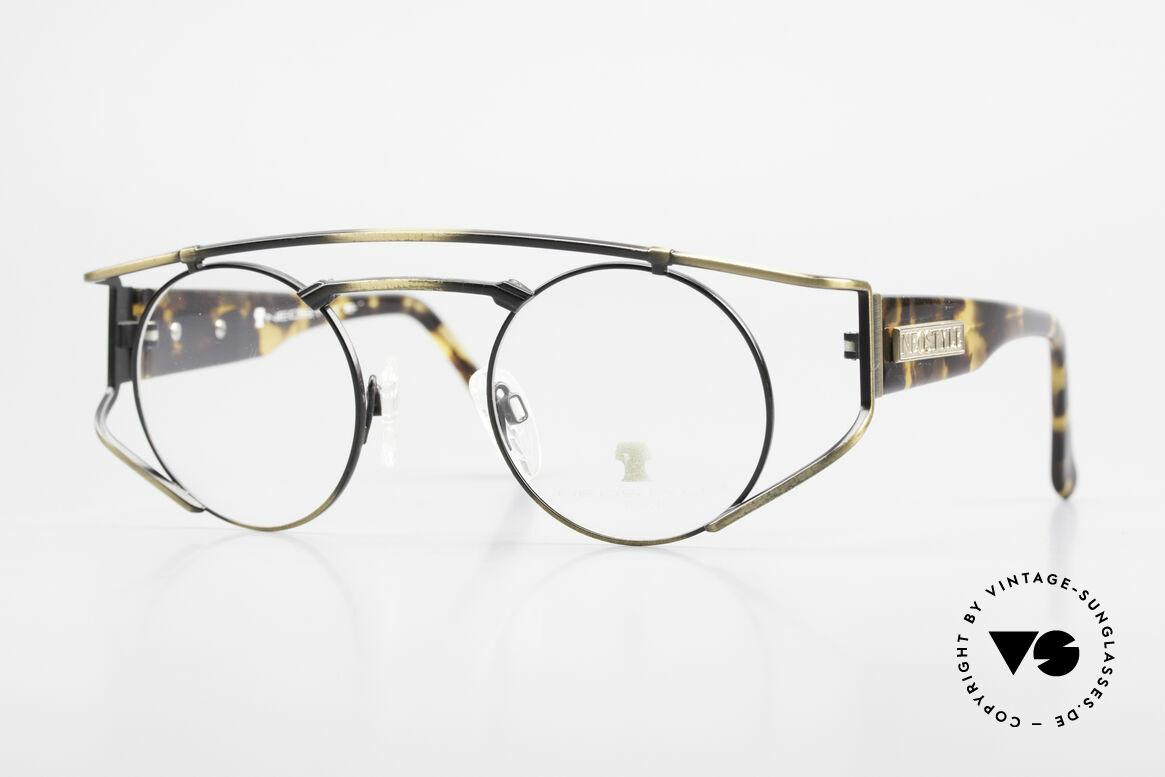 Neostyle Superstar 1 Steampunk Vintage Brille, NEOSTYLE Superstar 1, col. 801, Brille, Gr. 45-23, Passend für Herren und Damen